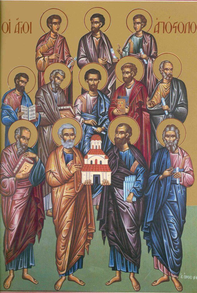"""Sfinţii Apostoli sunt modele de credinţă – """"Text spații goale"""" – Autor: Prof. Ionuţ Cătălin CIUREA, Liceul """"Tehnologic Turburea"""" Gorj, 2020"""