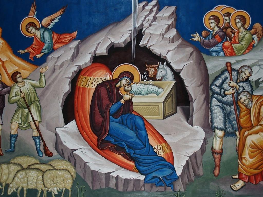"""Nașterea Domnului – prilej de bucurie pentru creștini –""""Text spații goale"""" – Autor: Arhid. Prof. Nicușor LĂZĂRICĂ, Liceul Teologic Târgu-Jiu, 2020"""
