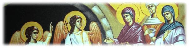 2. Femeile mironosițe pe drumul Golgotei și în Duminica Învierii